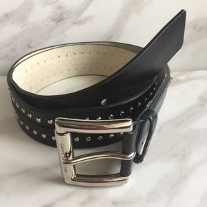 MICHAEL MICHAEL KORS Black belt with Silver Studs